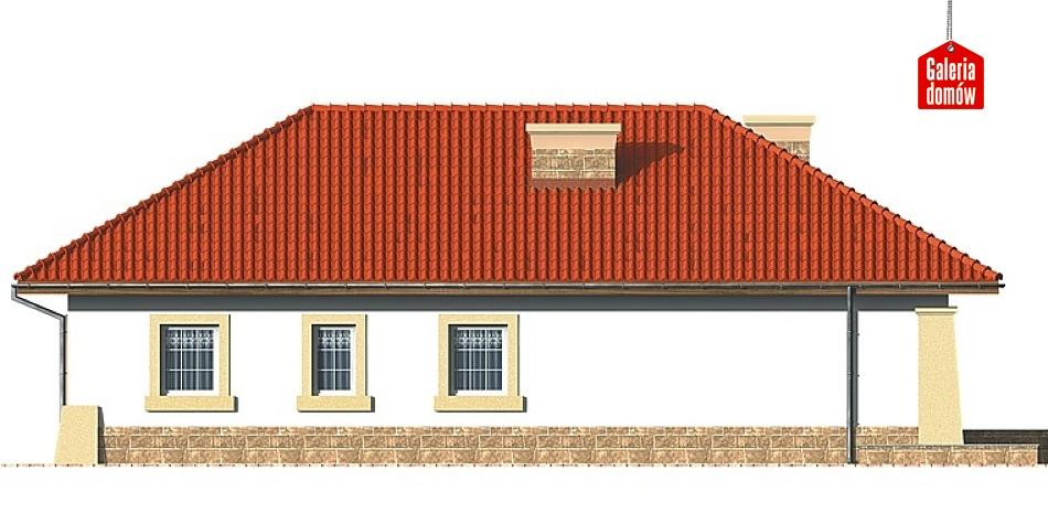 Dom przy Baśniowej - elewacja prawa