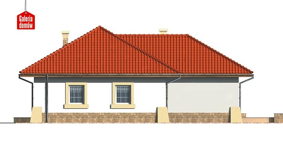 Dom przy Baśniowej - elewacja tylna
