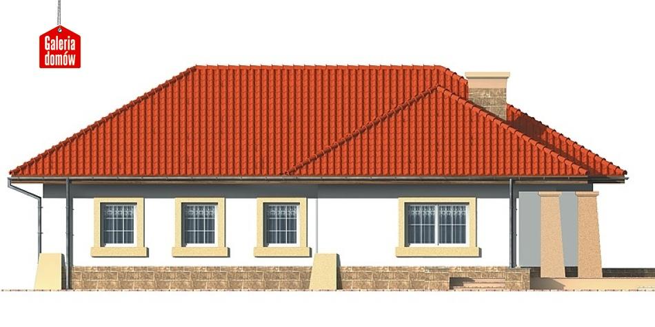 Dom przy Baśniowej - elewacja lewa