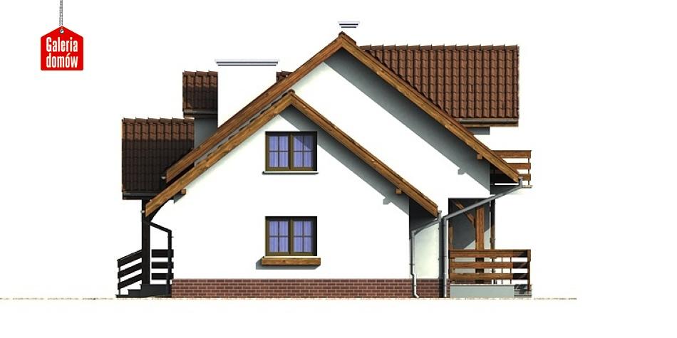 Dom przy Bocianiej - elewacja prawa