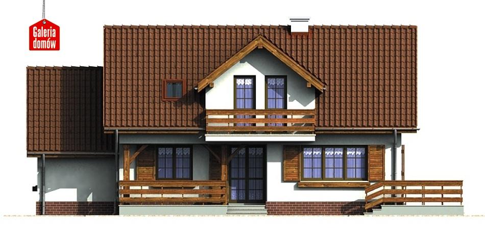 Dom przy Bocianiej - elewacja tylna