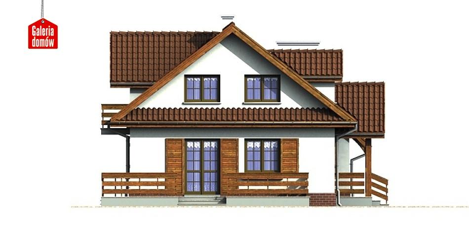 Dom przy Bocianiej - elewacja lewa