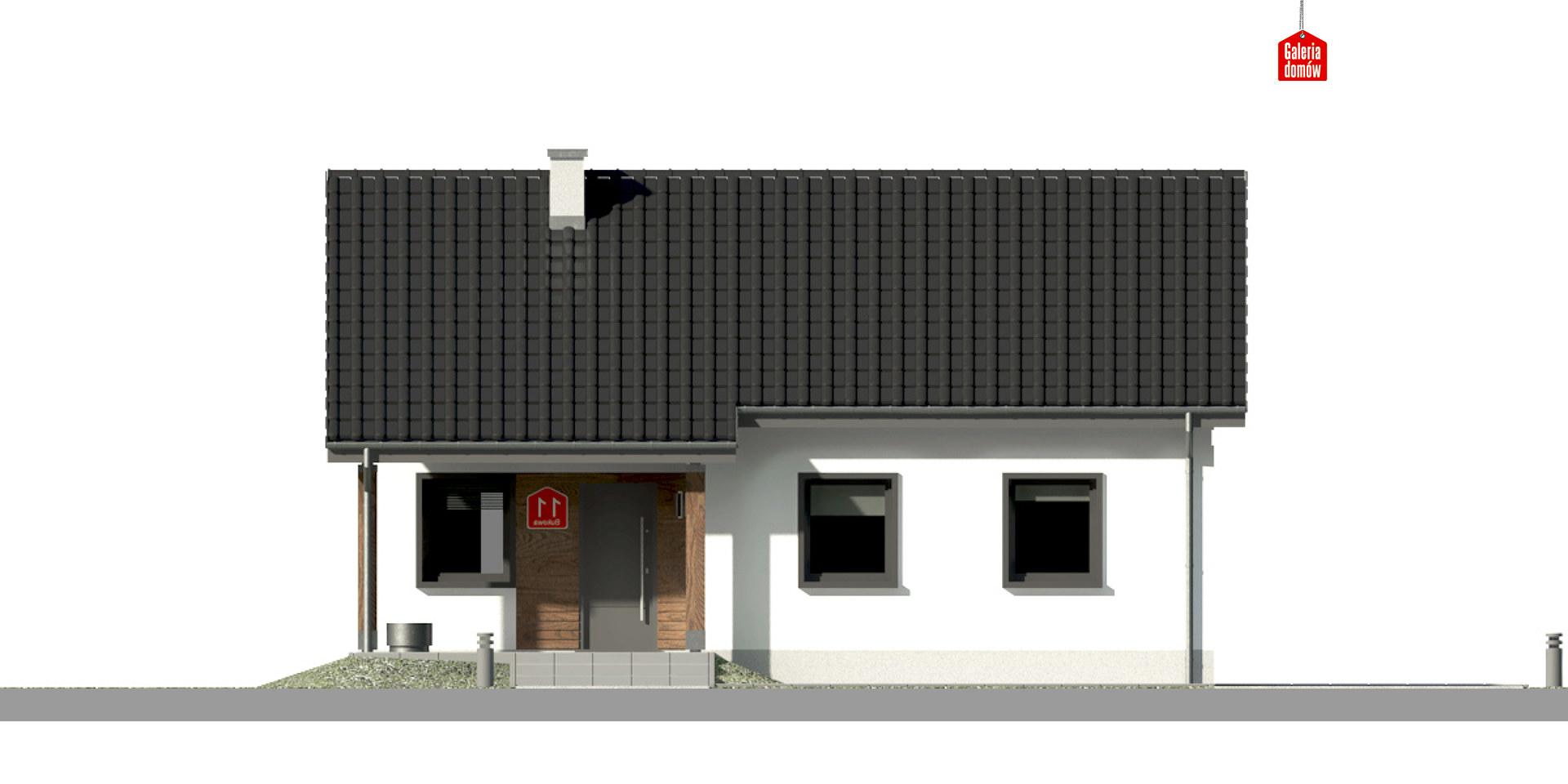 Dom przy Bukowej 10 - elewacja frontowa