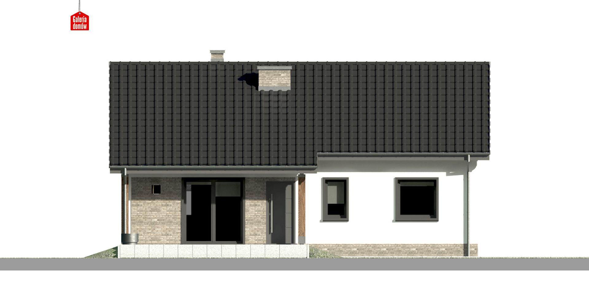 Dom przy Bukowej 12 - elewacja tylna