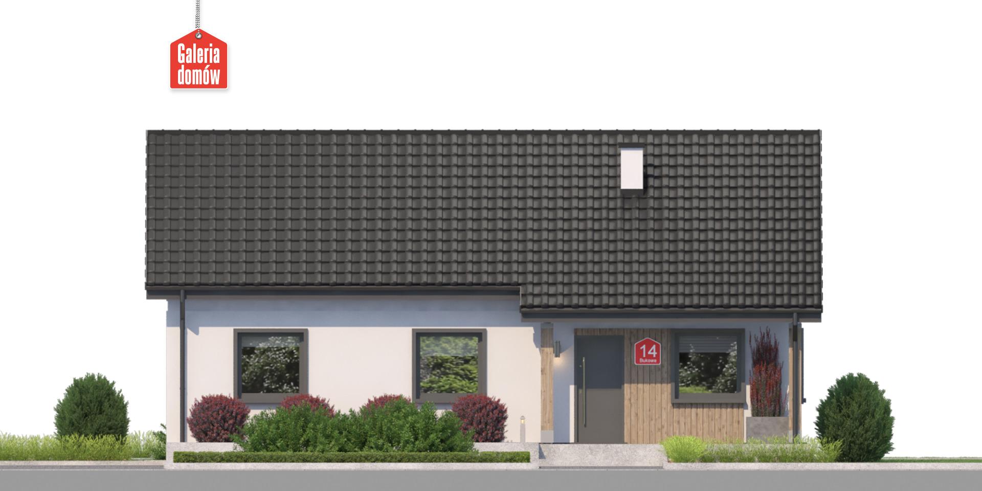Dom przy Bukowej 14 - elewacja frontowa