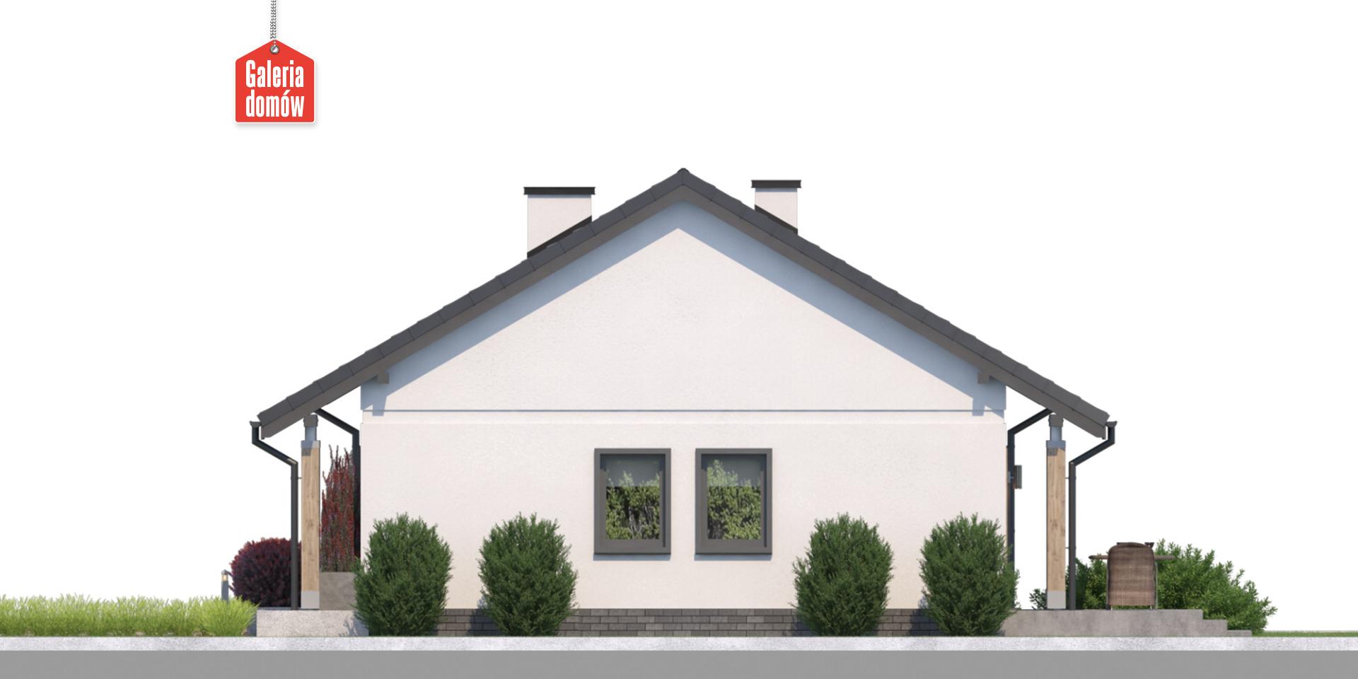 Dom przy Bukowej 14 - elewacja prawa