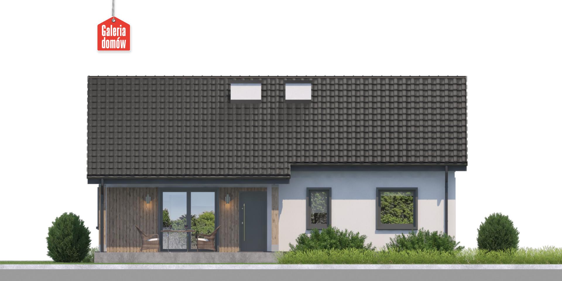 Dom przy Bukowej 14 - elewacja tylna