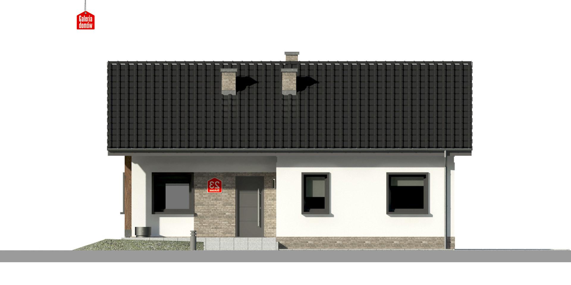 Dom przy Bukowej 15 - elewacja frontowa