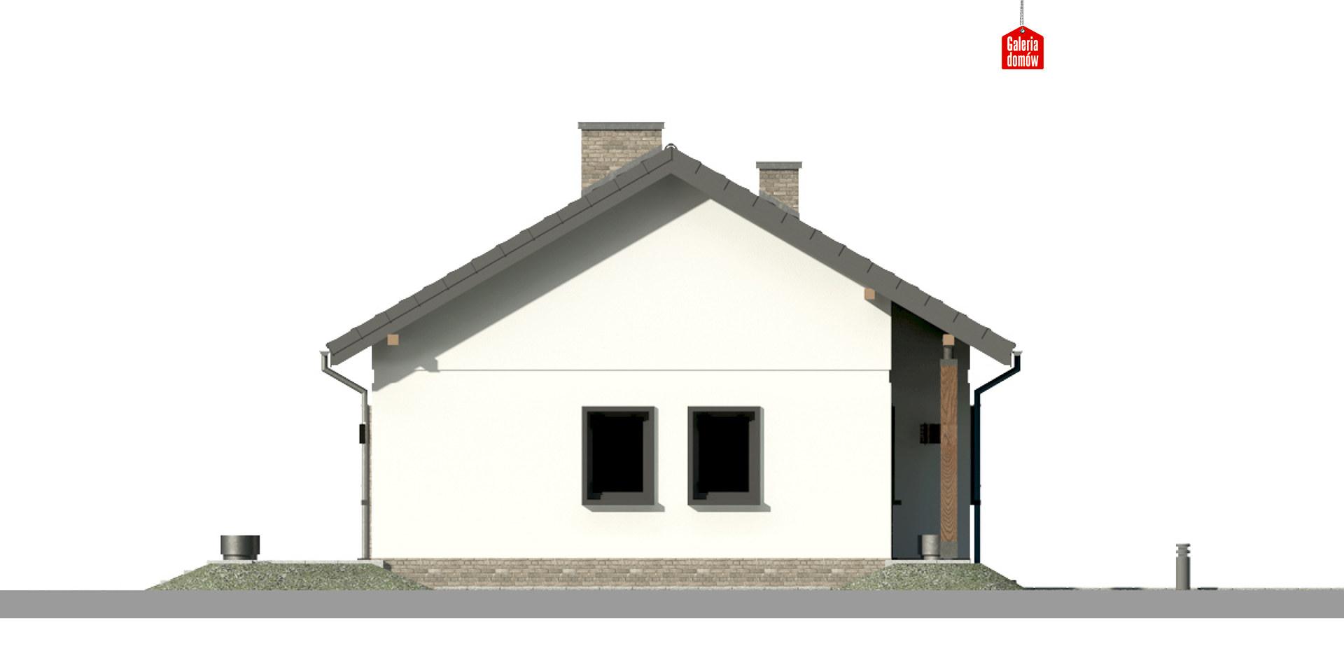 Dom przy Bukowej 15 - elewacja prawa