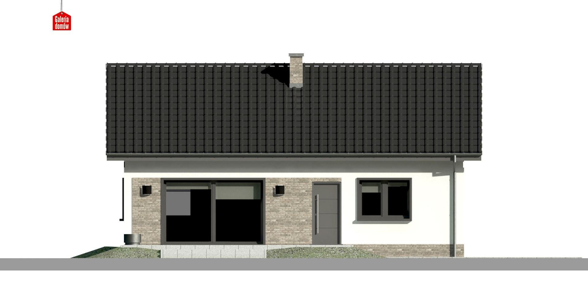 Dom przy Bukowej 15 - elewacja tylna