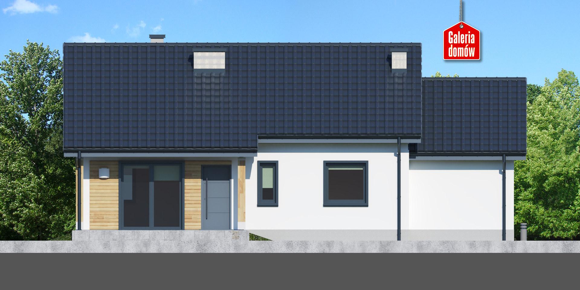 Dom przy Bukowej 16 - elewacja tylna