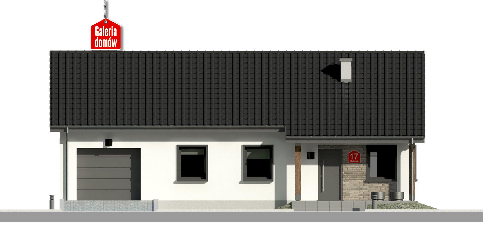 Dom przy Bukowej 17 - elewacja frontowa