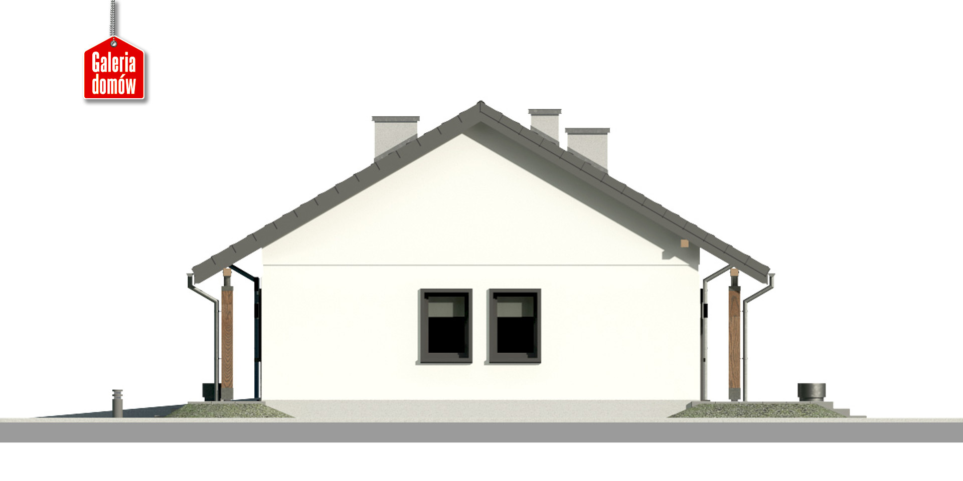 Dom przy Bukowej 17 - elewacja prawa