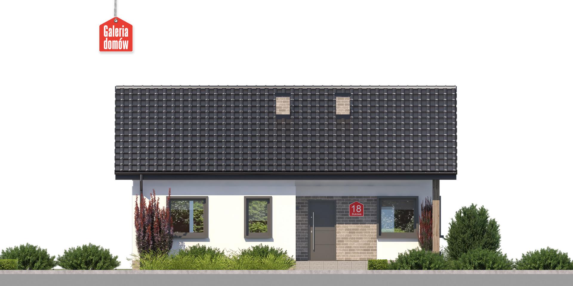 Dom przy Bukowej 18 - elewacja frontowa