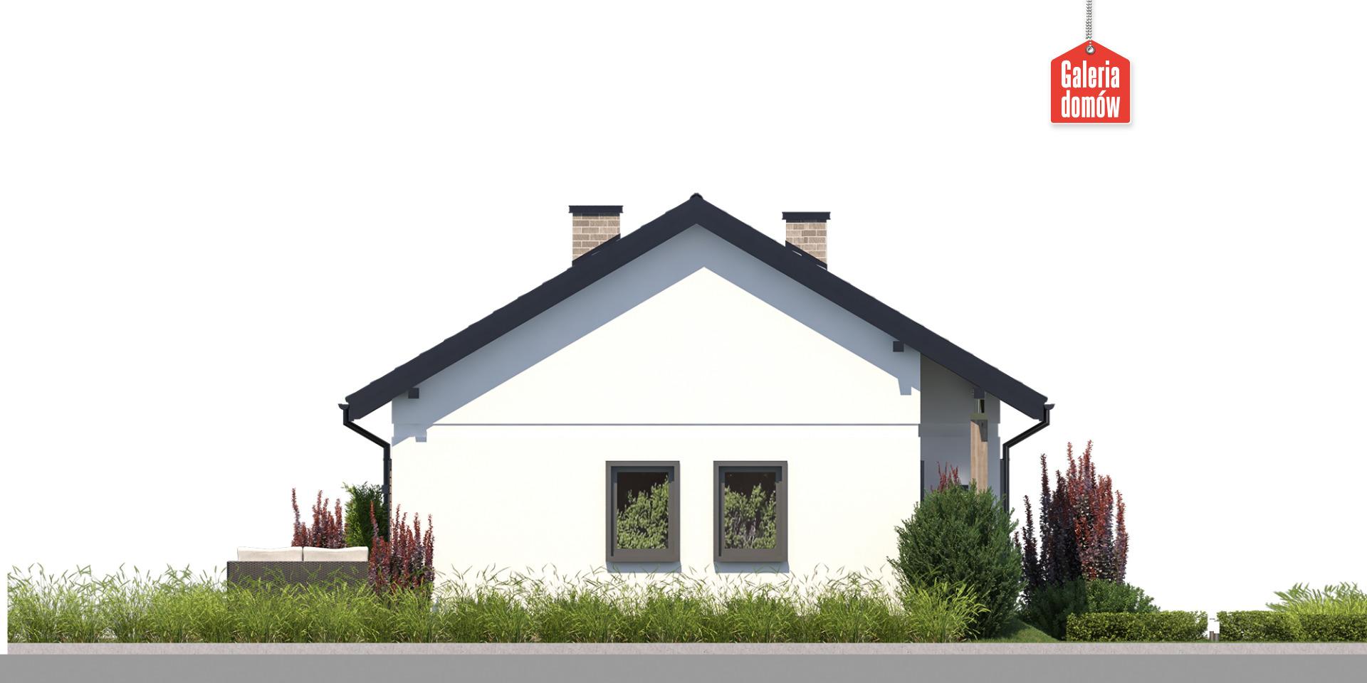 Dom przy Bukowej 18 - elewacja prawa