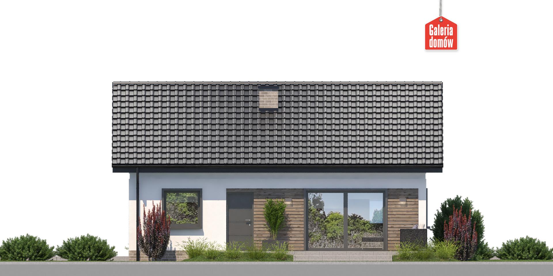 Dom przy Bukowej 18 - elewacja tylna