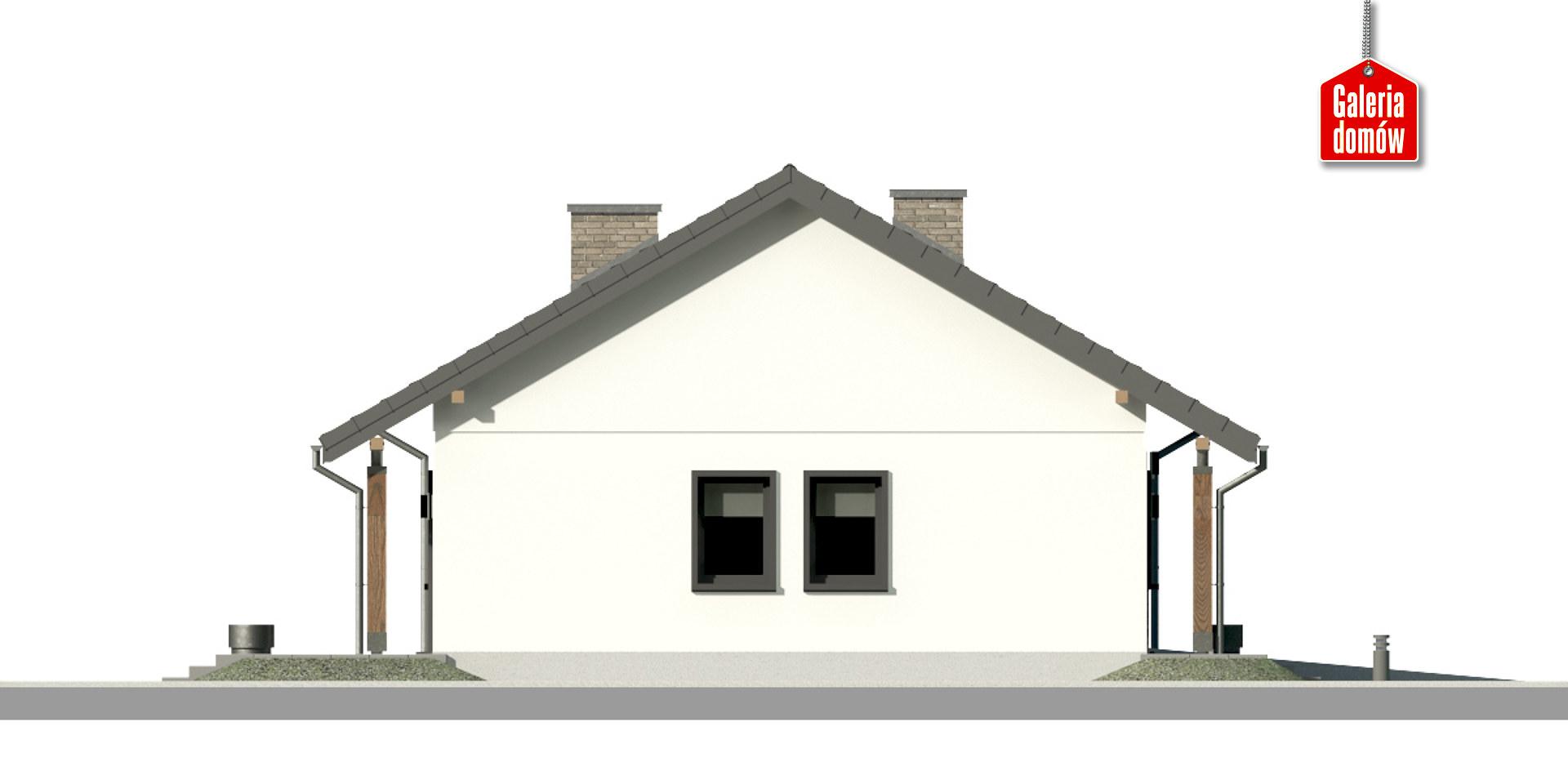 Dom przy Bukowej 19 - elewacja prawa