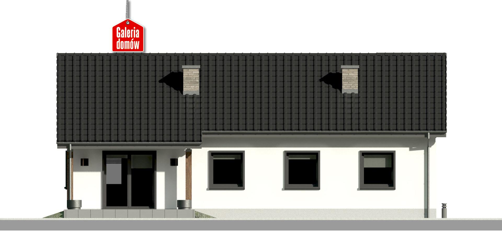 Dom przy Bukowej 19 - elewacja tylna