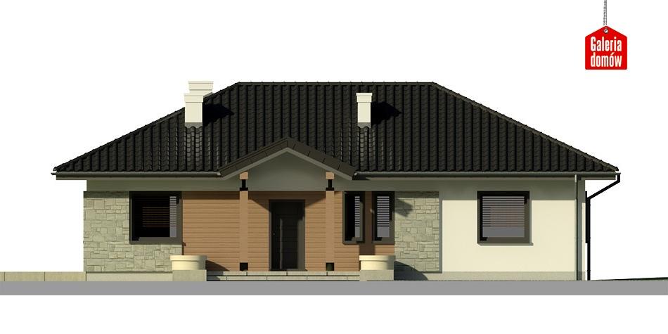 Dom przy Bukowej 2 - elewacja frontowa