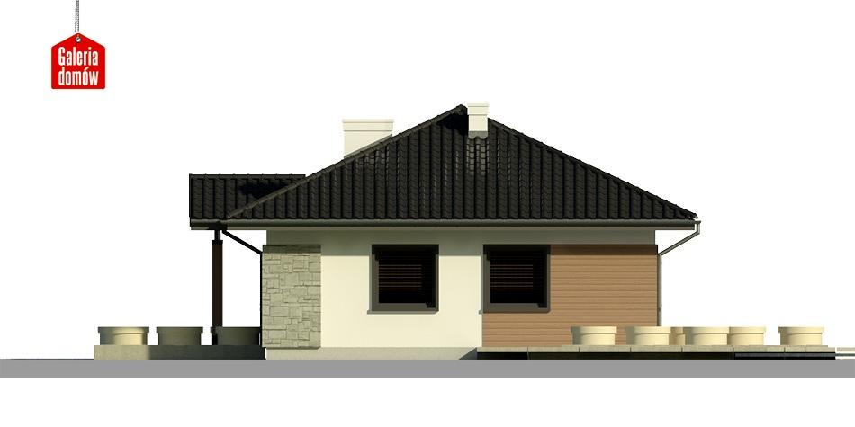Dom przy Bukowej 2 - elewacja prawa