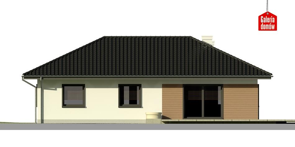 Dom przy Bukowej 2 - elewacja tylna