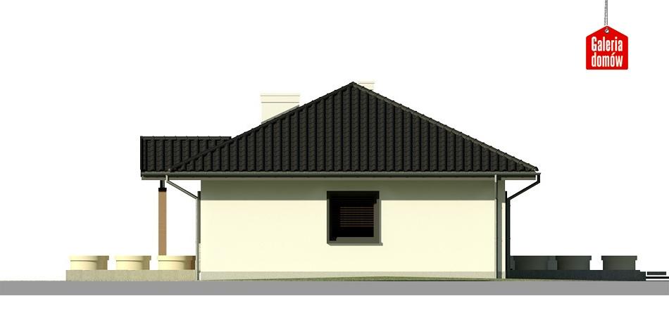 Dom przy Bukowej 2 - elewacja lewa