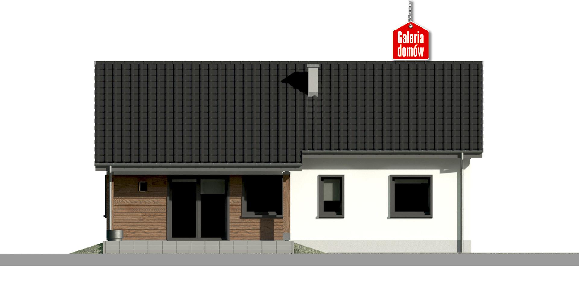 Dom przy Bukowej 24 - elewacja tylna