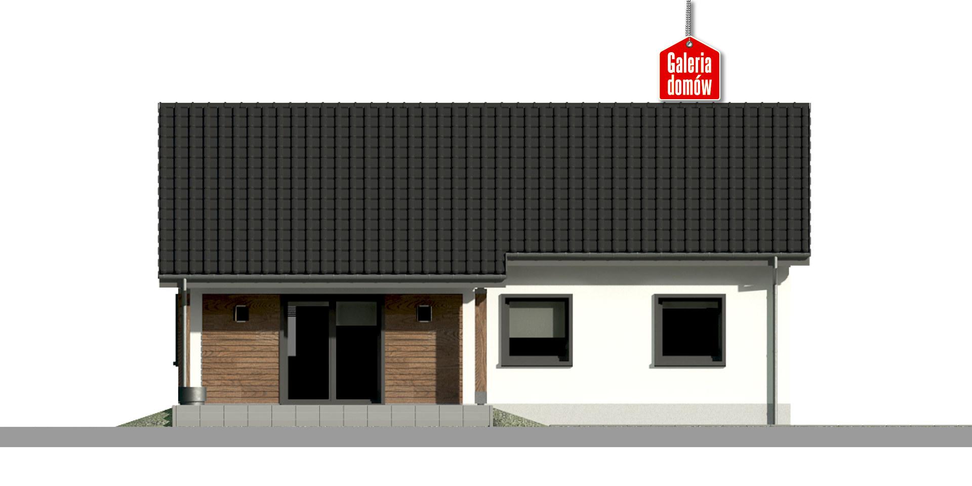 Dom przy Bukowej 25 - elewacja tylna