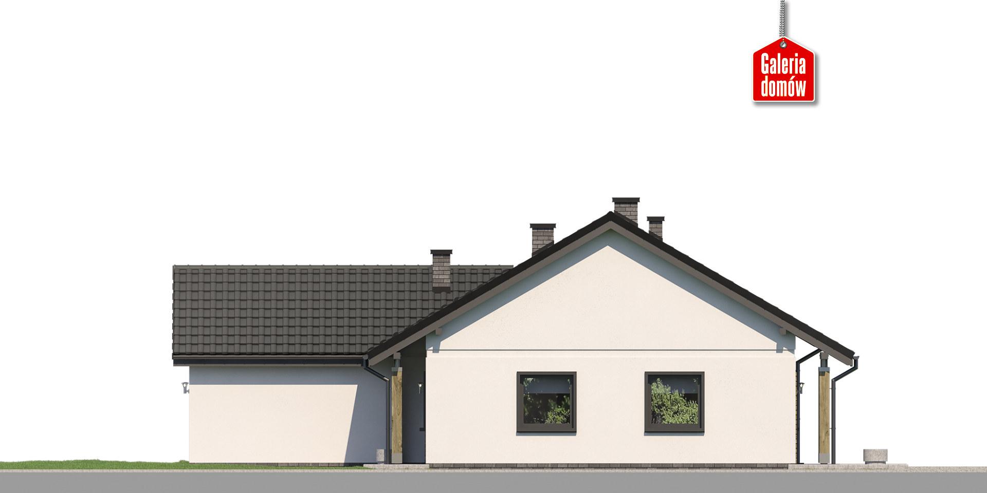 Dom przy Bukowej 27 - elewacja prawa