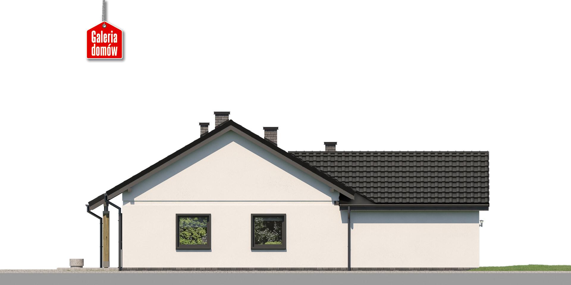Dom przy Bukowej 27 - elewacja lewa
