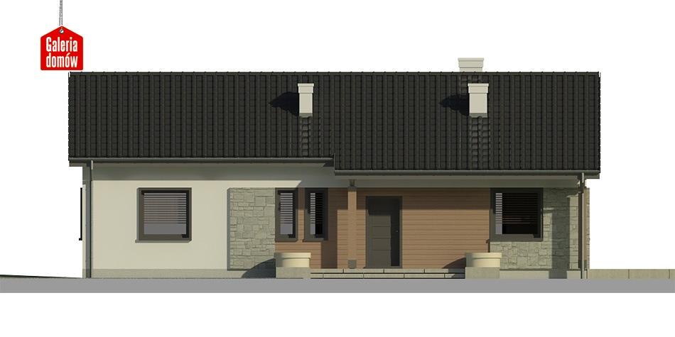 Dom przy Bukowej 3 - elewacja frontowa