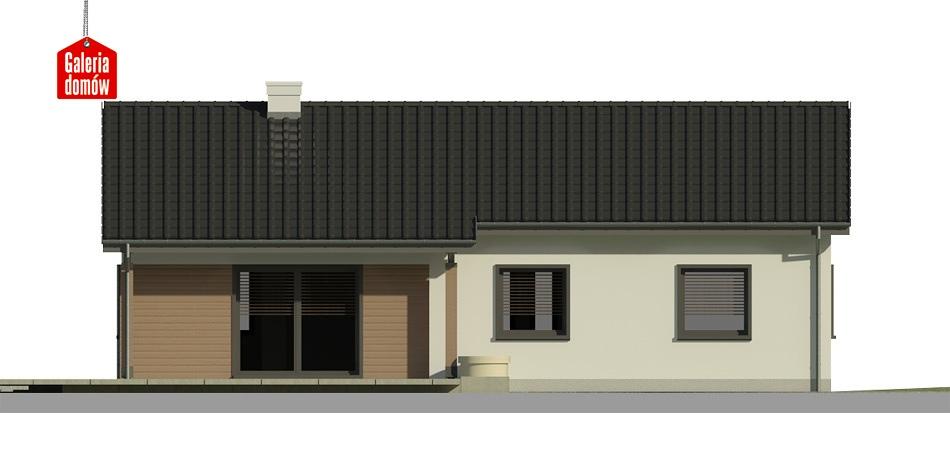 Dom przy Bukowej 3 - elewacja tylna