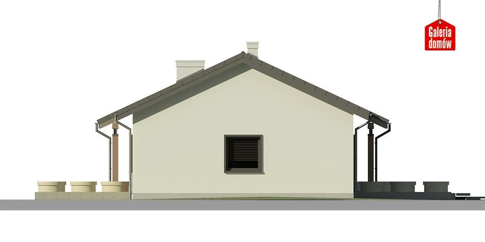 Dom przy Bukowej 3 - elewacja lewa