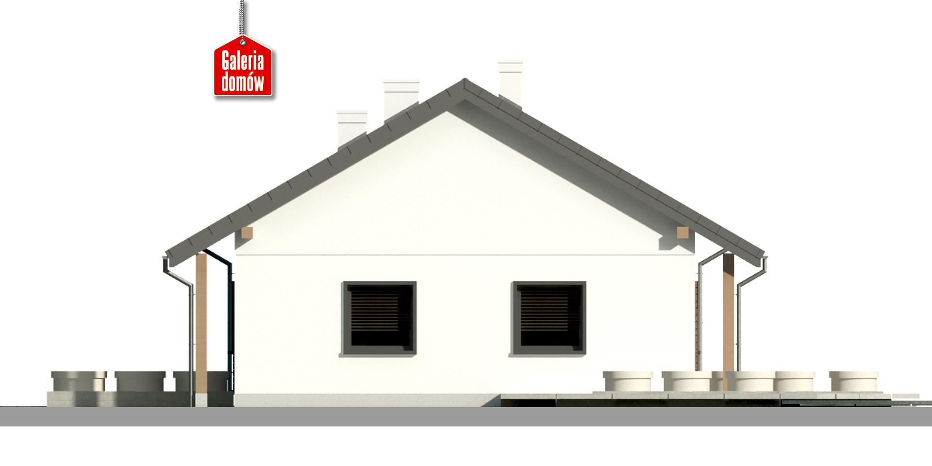 Dom przy Bukowej 30 - elewacja prawa