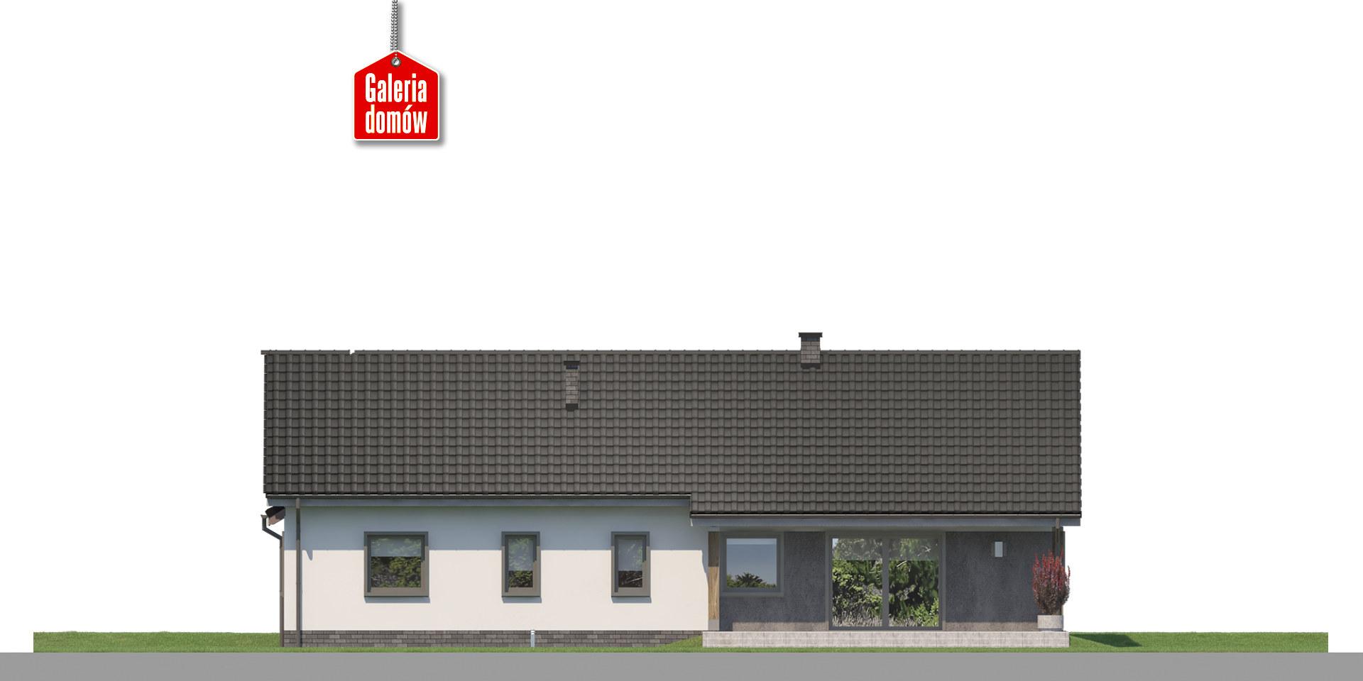 Dom przy Bukowej 32 - elewacja tylna