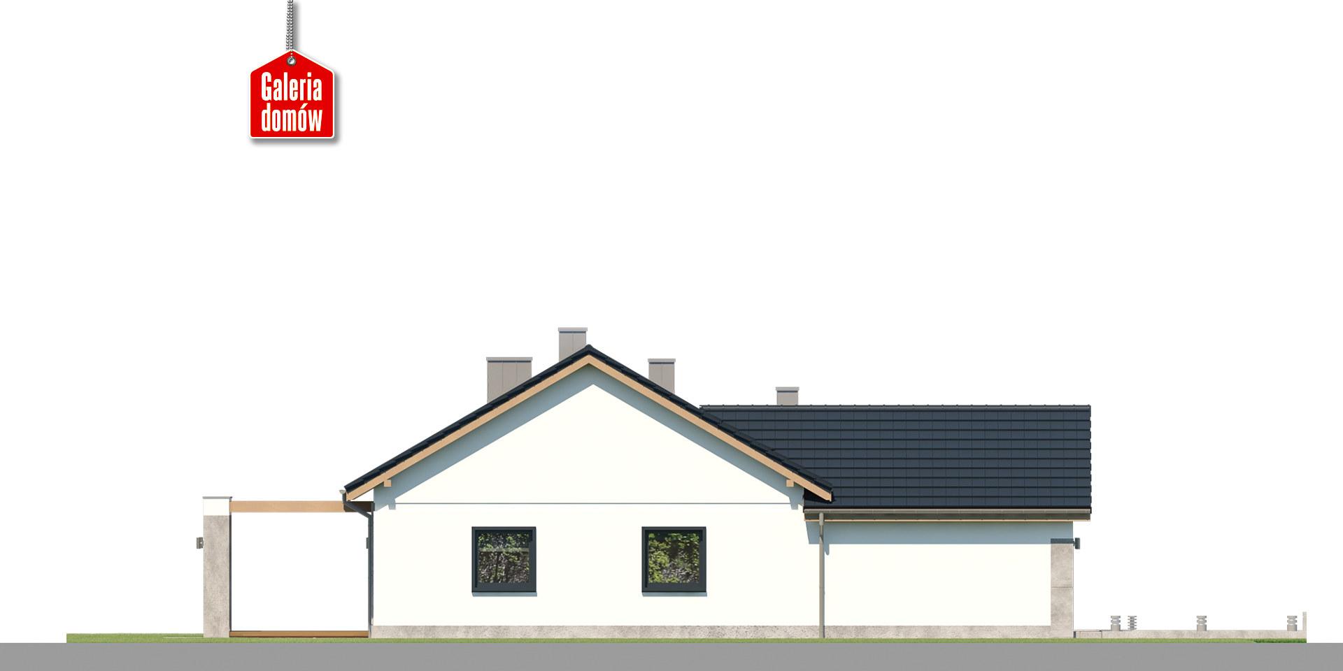Dom przy Bukowej 33 - elewacja lewa