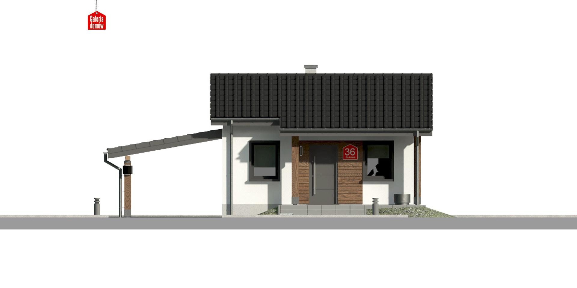 Dom przy Bukowej 35A - elewacja frontowa