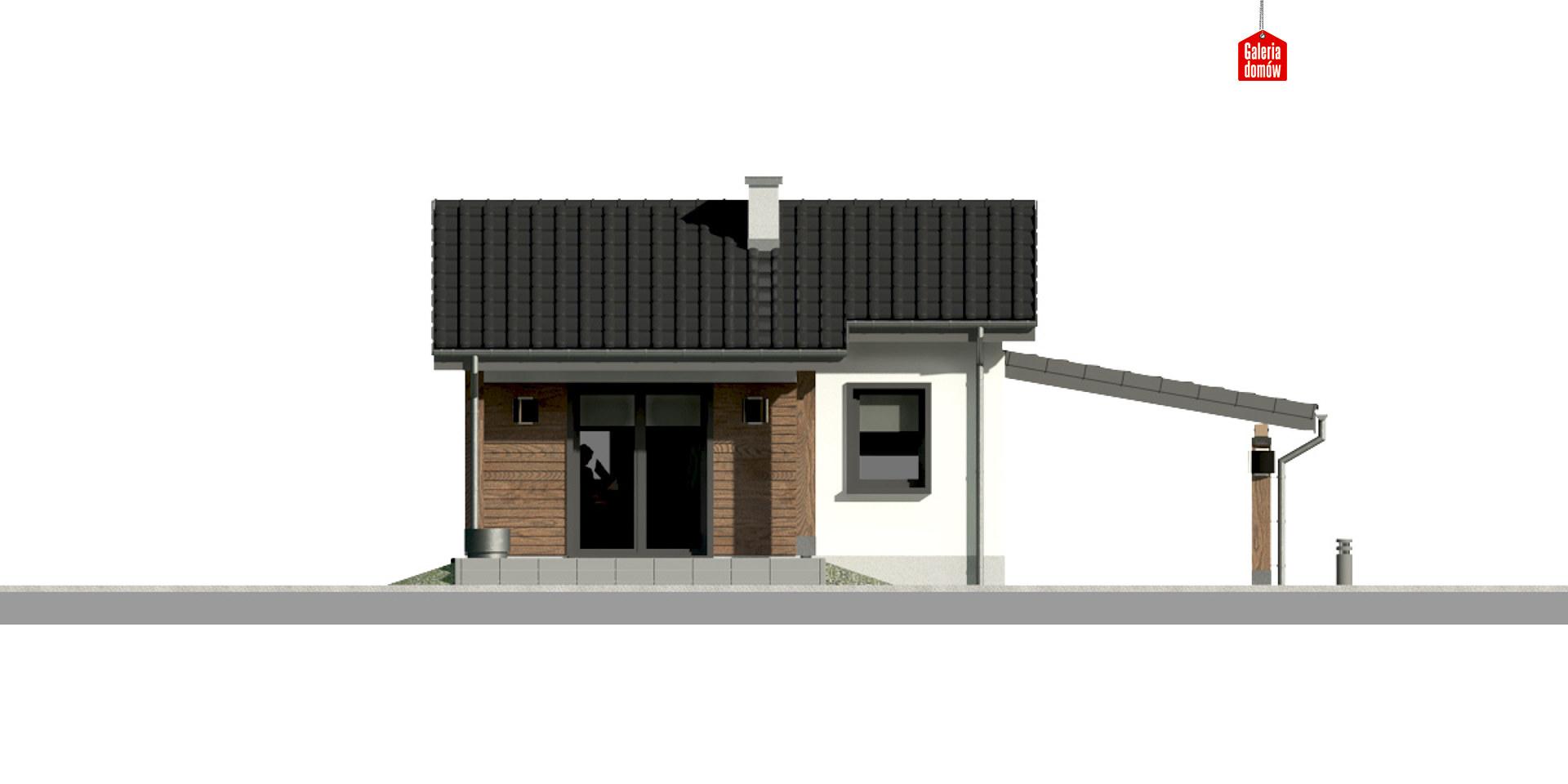 Dom przy Bukowej 35A - elewacja tylna