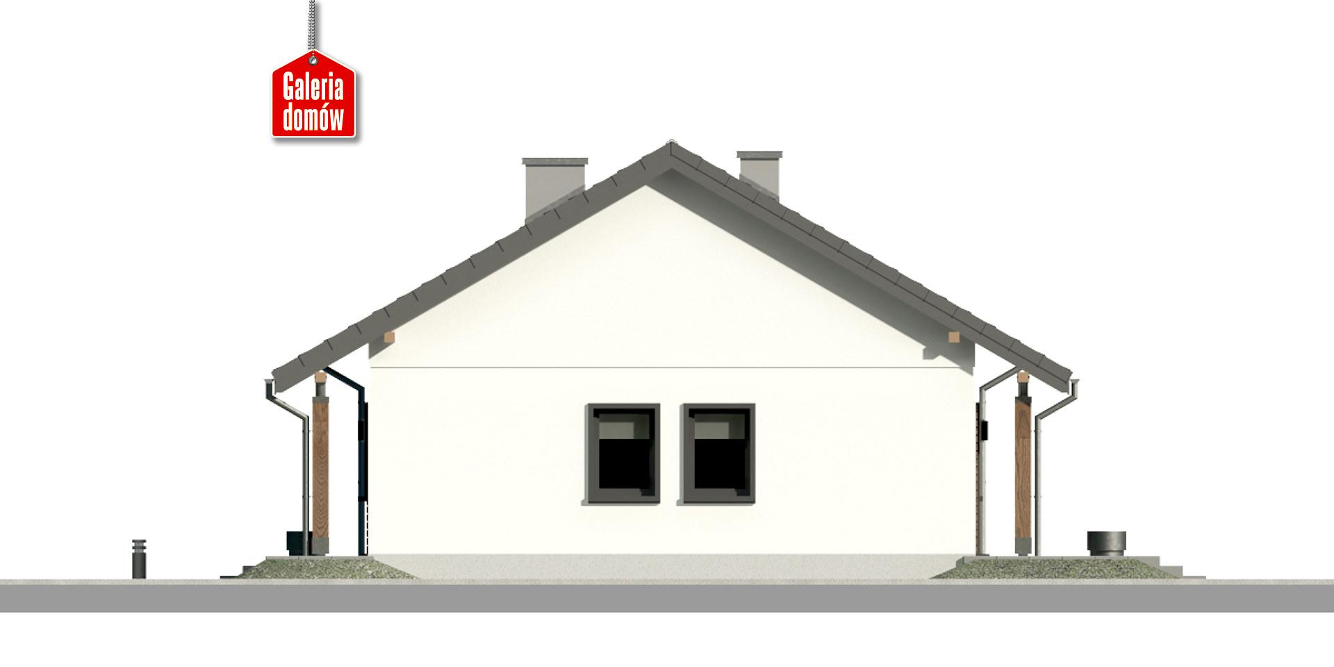 Dom przy Bukowej 38 - elewacja prawa