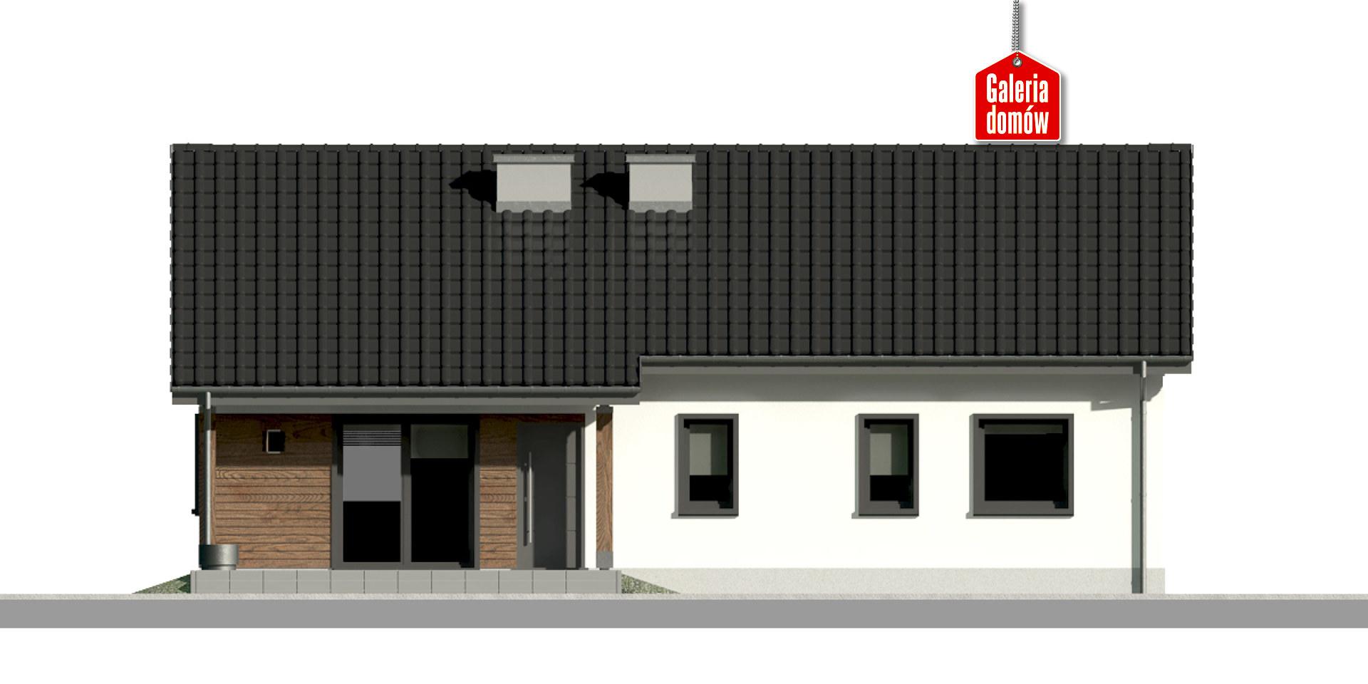 Dom przy Bukowej 38 - elewacja tylna