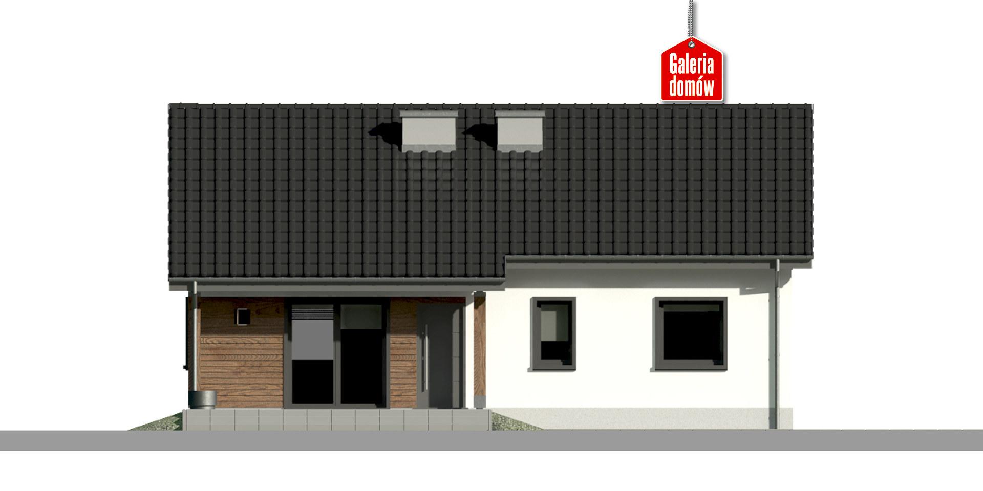 Dom przy Bukowej 39 - elewacja tylna
