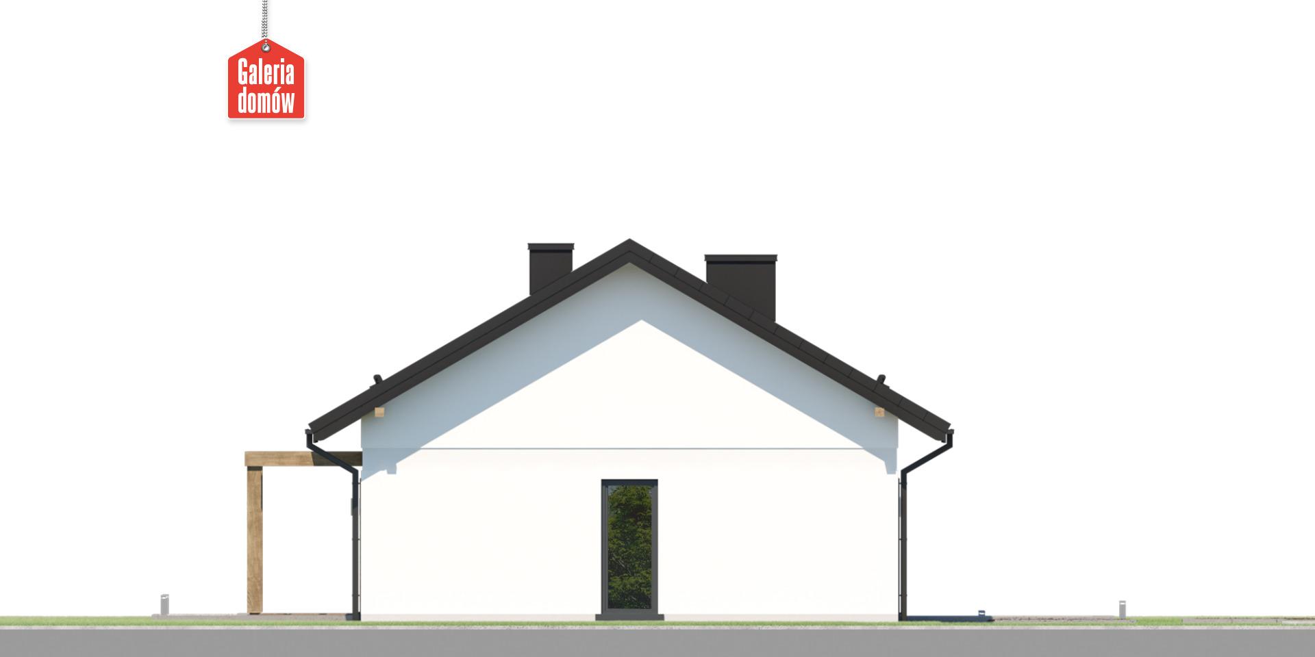 Dom przy Bukowej 40 - elewacja lewa