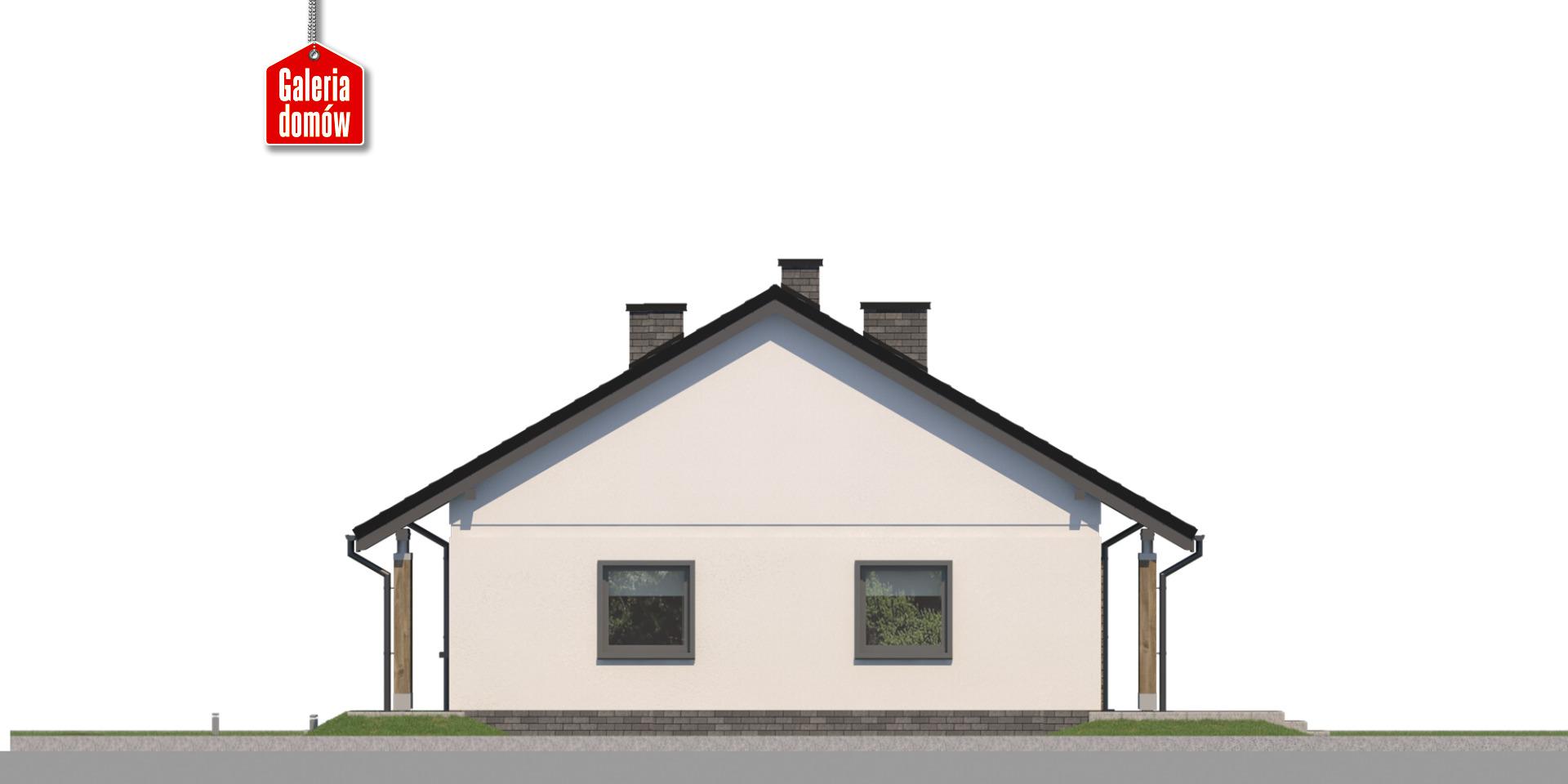 Dom przy Bukowej 41 - elewacja prawa