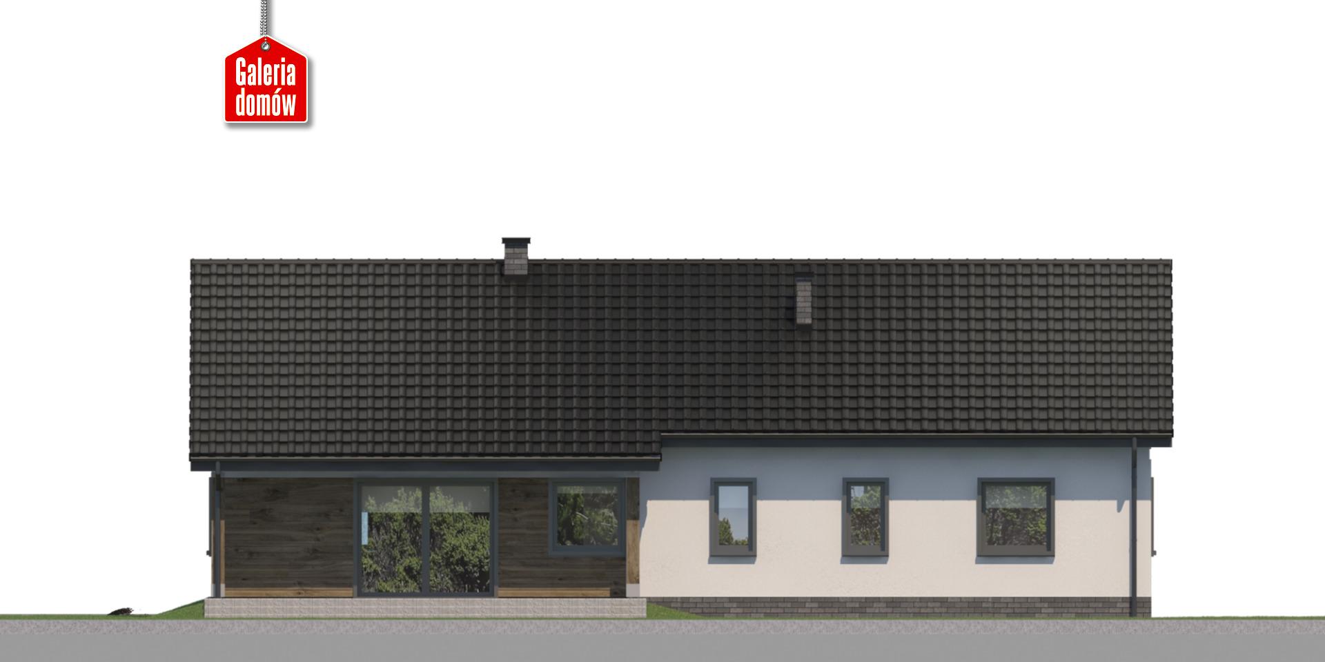 Dom przy Bukowej 41 - elewacja tylna