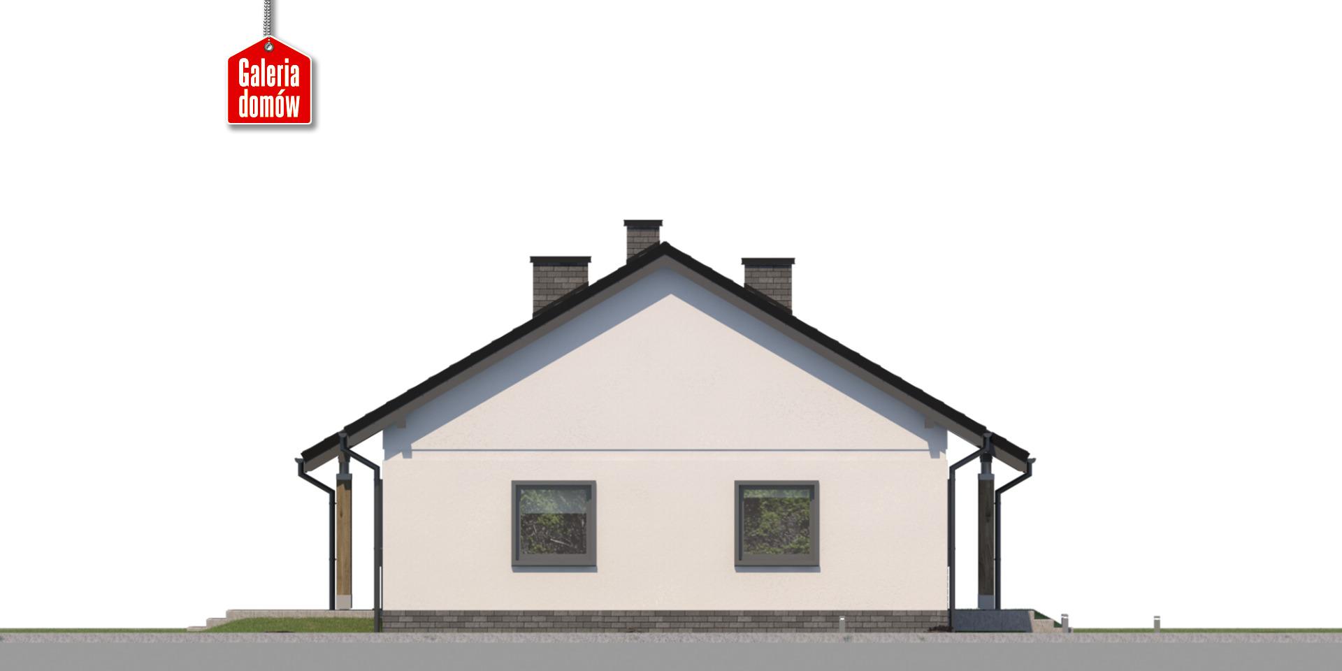 Dom przy Bukowej 41 - elewacja lewa