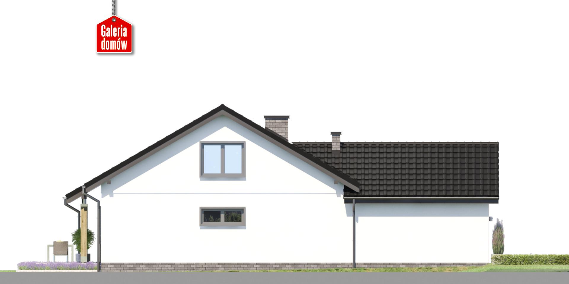 Dom przy Bukowej 42 - elewacja lewa