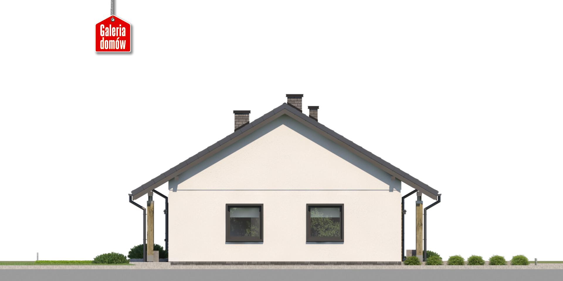 Dom przy Bukowej 43 - elewacja prawa