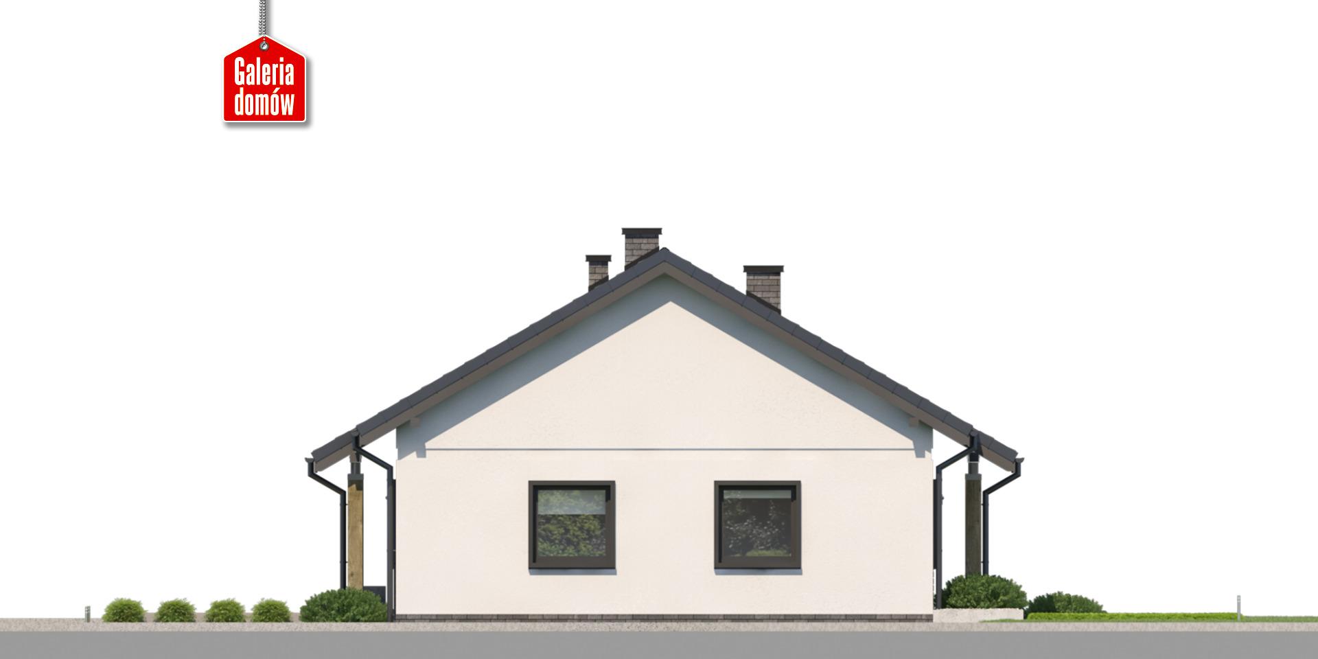 Dom przy Bukowej 43 - elewacja lewa