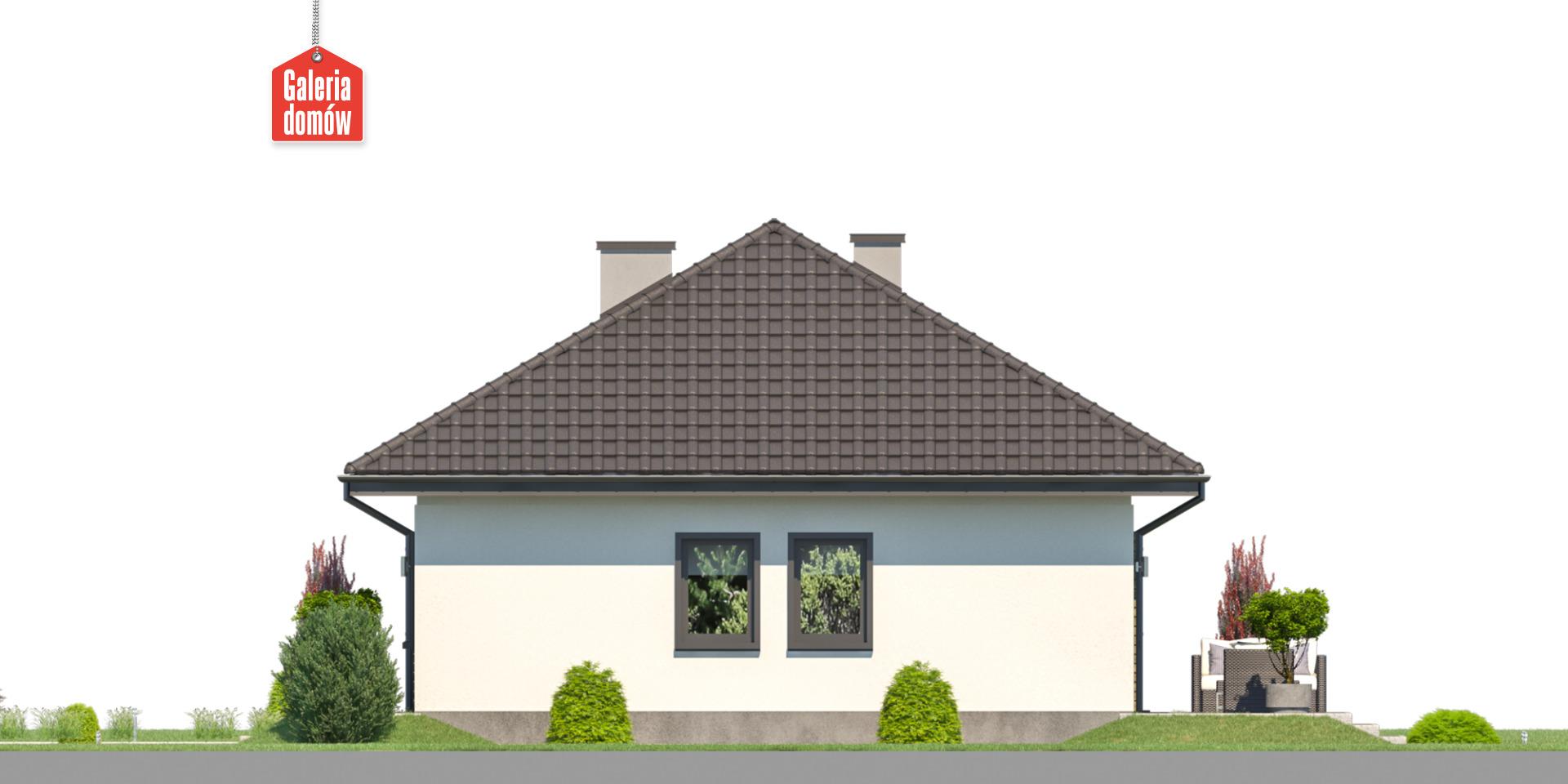 Dom przy Bukowej 44 - elewacja prawa