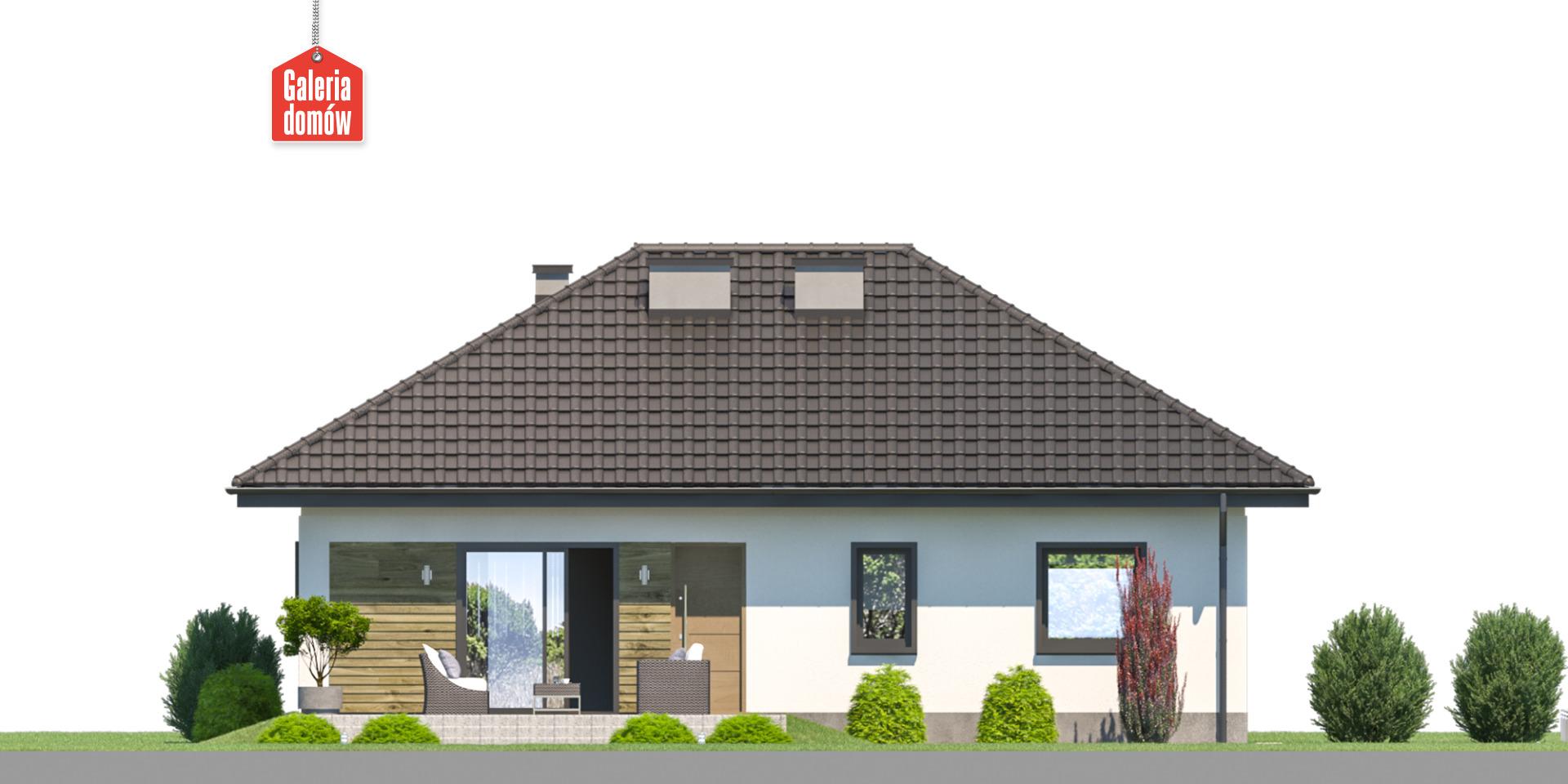 Dom przy Bukowej 44 - elewacja tylna